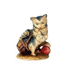 Socha - Mačky v Košíku - 10947744_