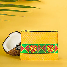 Peňaženky - Zero waste peňaženka na zips žltá Rasta - 10948948_