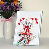 Darčeky pre svadobčanov - Svadobný dar - obraz v rámčeku - 10948269_