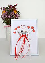 Darčeky pre svadobčanov - Svadobný dar - obraz v rámčeku - 10948279_