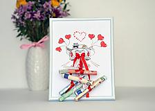 Darčeky pre svadobčanov - Svadobný dar - obraz v rámčeku - 10948280_