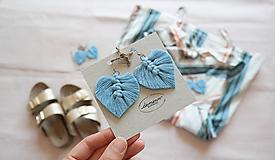 Náušnice - Macramé Náušnice - Baby blue - 10948885_