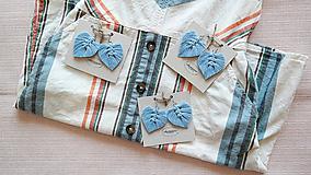 Náušnice - Macramé Náušnice - Baby blue - 10948886_