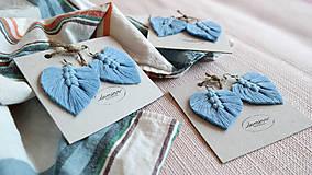 Náušnice - Macramé Náušnice - Baby blue - 10948887_
