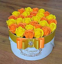 Dekorácie - SPLENDID FLOWER BOX L (Oranžovo-žltá) - 10948818_