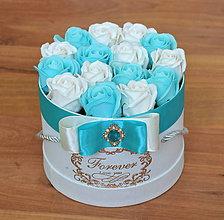 Dekorácie - SPLENDID FLOWER BOX S (Modro-biela) - 10949073_