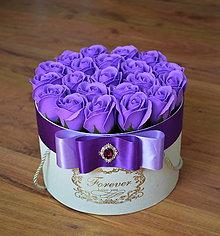 Dekorácie - SPLENDID FLOWER BOX M (Fialová) - 10949074_