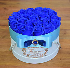 Dekorácie - SPLENDID FLOWER BOX M (Modrá) - 10949080_