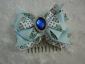 Ozdoby do vlasov - Modrá bodka - 10948038_