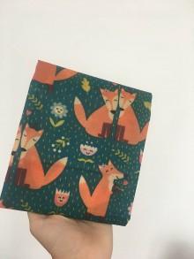 Úžitkový textil - Voskovaný obrúsok EkObal - Zaľúbené líšky - 10949233_