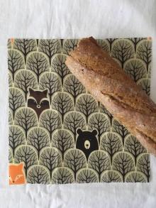 Úžitkový textil - Voskovaný obrúsok EkObal - Medvedí les - 10949333_