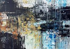 Obrazy - abstraktné obrazy, Posolstvo tmavej noci, 130x90 - 10948426_