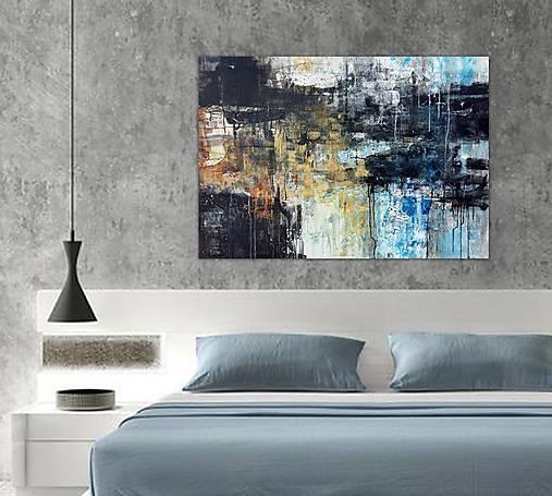 abstraktné obrazy, Posolstvo tmavej noci, 130x90
