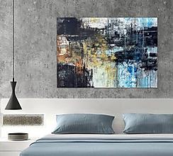 Obrazy - abstraktné obrazy, Posolstvo tmavej noci, 130x90 - 10948202_
