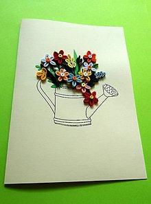 Papiernictvo - malá kvetinová krhlička - 10949415_