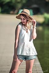 Topy - Biely top s volánom - 10949965_