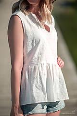 Topy - Biely top s volánom - 10949974_