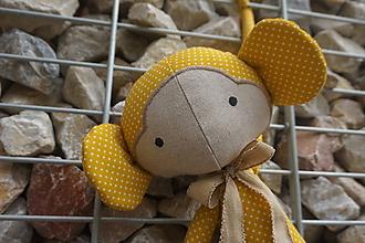 Hračky - opička horčicová +vrecúško - 10947846_