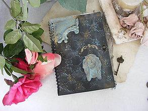 Papiernictvo - Vintage zápisník ... - 10949190_