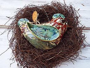 Socha - Vtáčik v hniezdočku (Oranžová) - 10949812_