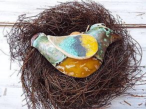 Socha - Vtáčik v hniezdočku - 10949860_