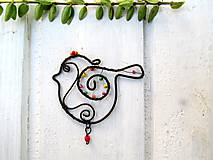 Dekorácie - Vtáčik pre radosť - 10947995_