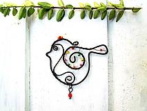 Dekorácie - Vtáčik pre radosť - 10947997_