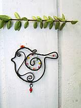 Dekorácie - Vtáčik pre radosť - 10947998_