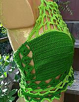 Topy - Výpredaj - Háčkovaný crop top hodvábny - 10949709_