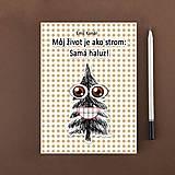 Papiernictvo - Zápisník Som ako strom, samá haluz bodkovaný (4) - 10949409_