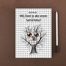 Papiernictvo - Zápisník Som ako strom, samá haluz bodkovaný - 10949416_