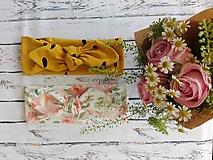 Detské čiapky - Čelenka ruže - 10953870_