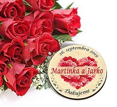 Darčeky pre svadobčanov - Svadobná magnetka - 10952461_