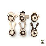 Drobnosti - Kľúčenka zajačik (100% biobavlna) - 10951253_
