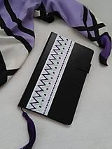 Papiernictvo - Do fialova (vyšívaný zápisník) - 10950956_