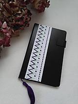 Papiernictvo - Do fialova (vyšívaný zápisník) - 10950959_