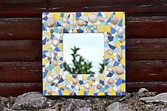 """Zrkadlá - Mozaikové zrkadlo """" MORE SLNKO PIESOK """" - 10953385_"""