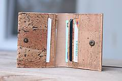 Tašky - Korková peňaženka unisex originálna kresba III. - 10952923_