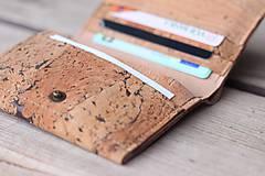 Tašky - Korková peňaženka unisex originálna kresba III. - 10952927_