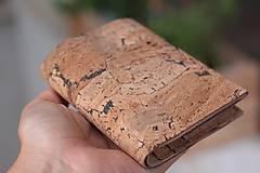 Tašky - Korková peňaženka unisex originálna kresba III. - 10952932_