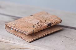 Tašky - Korková peňaženka unisex originálna kresba III. - 10952952_