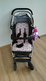 Textil - MERINO podložka OYSTER ZERO Powder pink 100% wool Panda - 10952395_