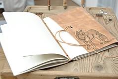 Papiernictvo - kožený denník LUPUS - 10952374_