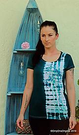 Topy, tričká, tielka - Dámske tričko maľované, batikované CUMIN - 10952240_