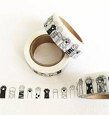 Papier - papierová dekoračná páska Labky - 10953580_