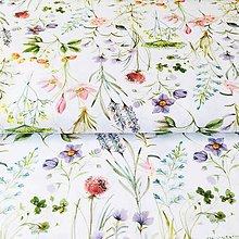 Textil - lesná lúka II, 100 % predzrážaná bavlna Španielsko, šírka 150 cm - 10950770_