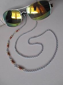 Iné šperky - Asimetrická retiazka na okuliare - zlato/medené - chirurgická oceľ - 10951654_