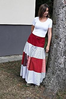 """Sukne - dlhá volánová sukňa """"košeľová"""" - 10951773_"""
