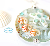 Náhrdelníky - Shells & starfish prívesok /c-10 - 10950949_