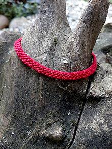 Náramky - Červený náramok - 10952964_